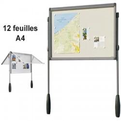 VITRINE ALU ANTARES DOUBLE PIETEMENT 101 X 95 CM SOIT 12 FEUILLES A4