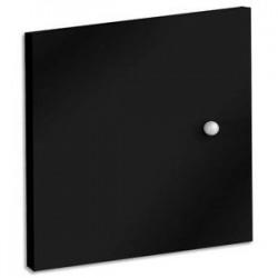 MTI Lot de 2 portes + fond de bibliothèque multicases coloris noir