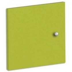 MTI Lot de 2 portes + fond de bibliothèque multicases coloris vert