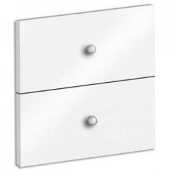 MTI Lot de 2 tiroirs + fond coloris blanc