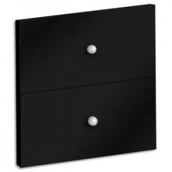 MTI Lot de 2 tiroirs + fond coloris noir