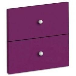 MTI Lot de 2 tiroirs + fond coloris prune