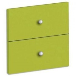 MTI Lot de 2 tiroirs + fond coloris vert