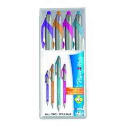 POCH 4 STYLOS BILLE FLEXGRIP ELITE ASSORTIS FUN PAPERMATE S0798121