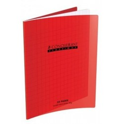 CAHIER POLYPRO ROUGE MATERN 17x22 90G 32P SEYES 2,5MM