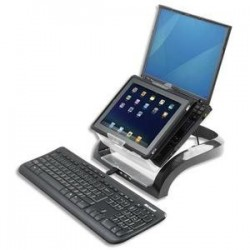 FELLOWES Support ordinateur portable + support tablette Smart Suite Plus Multimédia 8024801