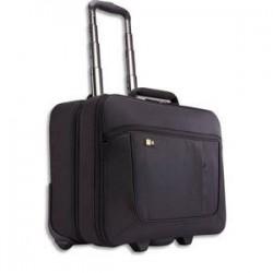 CASE LOGIC Trolley en nylon pour PC de 14 à 18 + compartient vêtements Dim. L46 x H40,4 x P23,6 cm noir