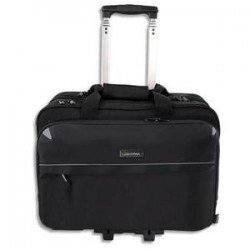 JUSCHA Pilot case trolley Lightpak 4 compartiments nylon noir