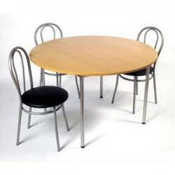 SODEMATUB Table collectivité hêtre alu cafétéria ronde diam 120cm