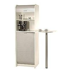 SIMMOB Meuble de rangement pour machine à café et four micro ondes 3 colis