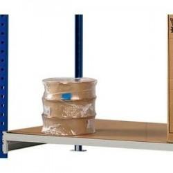 PAPERFLOW Lot 3 plateaux pour rayonnage RangEco + Dimensions L100 x H3 x P60 cm coloris bois