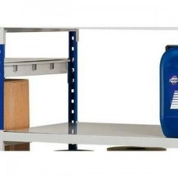 PAPERFLOW Lot 3 plaques pour rayonnage Rang Eco + en métal Dimensions L100 x H7 x P60 cm coloris acier