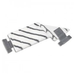 VILEDA Frange en microfibre bandes diagonales en polyamide UltraSpeed Dim. L40 x H15 x P1 cm blanc noir