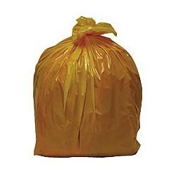 SACS POUBELLES Carton de 8 rouleaux de 25 sacs poubelle 110L jaunes HERSAND DELAISY KARGO