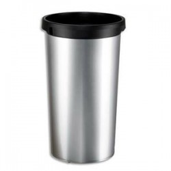 RUBBERMAID Collecteur gris avec conduit daération Slim Jim 87l