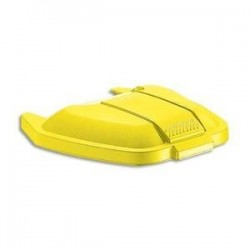 RUBBERMAID Couvercle jaune pour conteneur à roues 100L