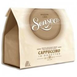 SENSEO Paquet de 10 dosettes de café moulu Cappuccino 125g, environ 7,2g par dosette