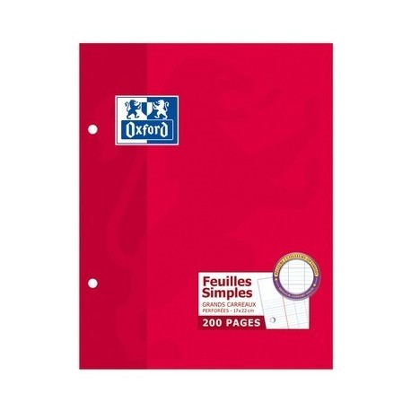 FEUILLET MOBILE PERF 170X220 200P 90G SEYES OXFORD
