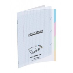 CAHIER 4 SECTIONS POLYPRO CONQ9 140 PAGES 24X32 90G TRANSLUCIDE