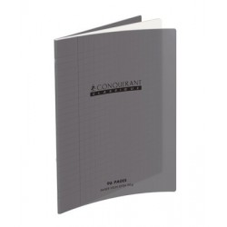 CAHIER POLYPRO GRIS 17x22 90G 48 PAGES SEYES