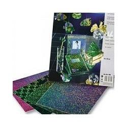 Papier métallisé, irise, vitrail, holographique