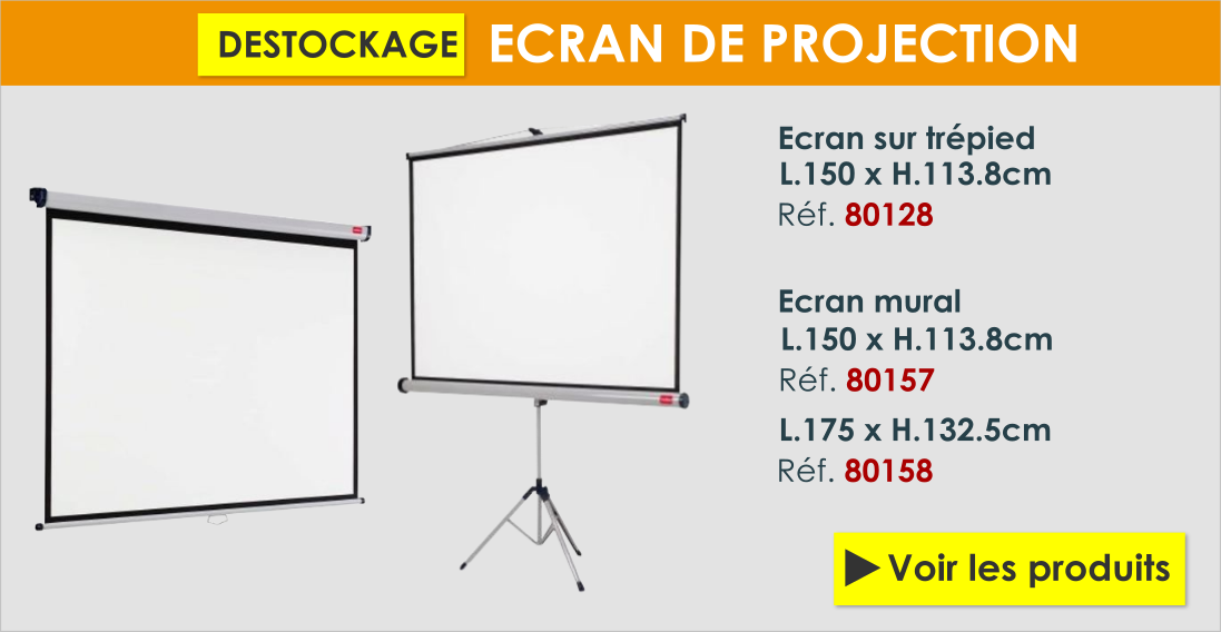 destockage écrans de projection