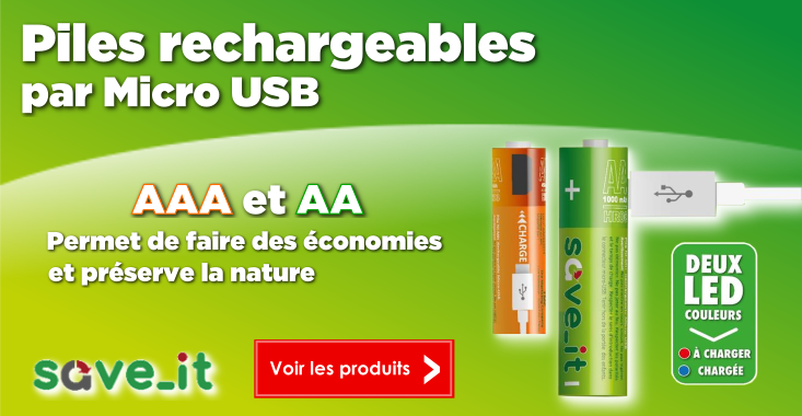 piles rechargeables micro usb